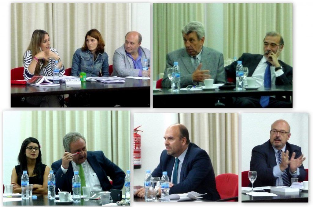 Algunos momentos del debate tras ambas ponencias, con intervenciones, entre otros, de los Profs. de Vicente Remesal, García Sobrado y Peñaranda Ramos.