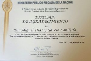 Certificado acreditativo de la conferencia.