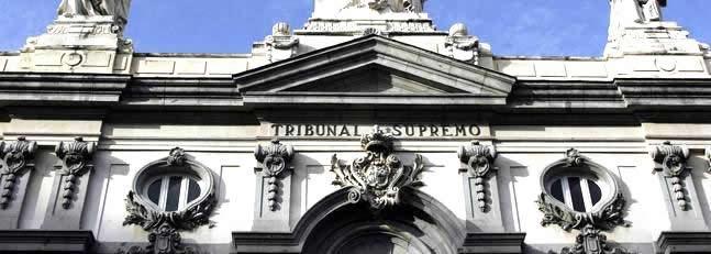 Detalle de la fachada del Tribunal Supremo de Madrid